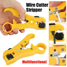 Adjustable Coax Cable Wire Cutter Stripper Plier Automatic Cable Stripping Tools
