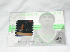 TIERRE BROWN ROCKETS 2002 SP ROOKIE FILM F/X AUTHENTIC NBA BASKETBALL CARD /1600