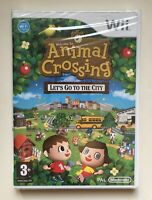 Animal Crossing Lets Go to City (Nintendo Wii) Factory Sealed PAL Brand New Rare