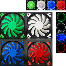 NEW 120mm DC 12V 3+4Pin LED Lights Clear Computer Case Cool Fan For Radiator Mod