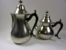 ROYAL HOLLAND PEWTER 2-PIECE TEA SET SLEEPY HOLLOW REPRODUCTION MADE IN HOLLAND