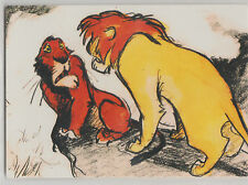 The Lion King Series II SkyBox Thermographic Card Confrontation On Pride Rock T2
