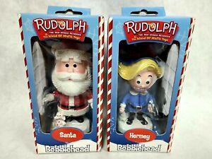 NIB Rudolph Island Misfit Toys 2001 SANTA HERMEY Christmas Bobblehead TOYSITE NR