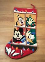 Christmas Stocking, Mickey Mouse, Donald Duck, Goofy, Needlepoint
