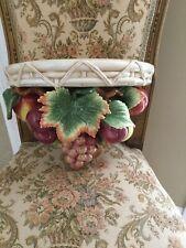Fitz & Floyd Classics Fruit Hanging Wall Mount Decorator Shelf Perfect!