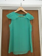 F&F Ladies Blouse Top Green Sheer  Size 12