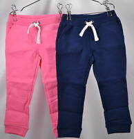 Baby Girl's Carter 2-Pack French Terry Jogger Pants, Navy/Pink