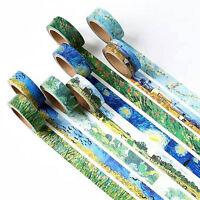 Van Gogh Inspired Washi Tape Designs Masking Tape Roll 15mm x 7 metres FREE PP