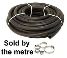 13mm 1/2 Car Heater Hose Replacement Black 1 Metre Pipe + Jubilee Hose Clips