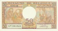 Vintage Banknote Belgium Choice UNC 1956 50 Francs Pick 133b US Seller