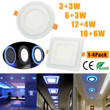 LED Ceiling Lights Panel Downlight Round Panel Kitchen Living Room Wall Lamp US