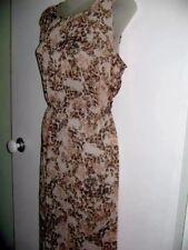 Impulse 16 Chiffon Animal Print Long Dress Elastic Waist Sleeveless Bust 106cm