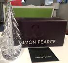 VINTAGE SIMON PEARCE CRYSTAL ART GLASS CHRISTMAS TREE - 8 1/2 INCHES NIB CA
