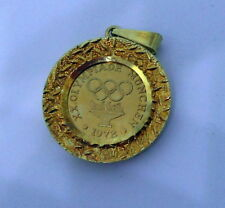 1972 Munich Olympic Charm Pendant Yellow 14k gold  MINT Condition