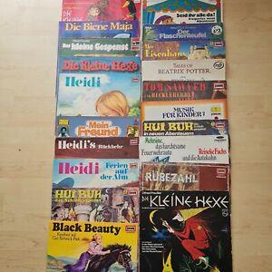 19x Schallplatten/LP-Konvolut Kindermärchen Märchen 70/80er Konvolut Heidi usw.