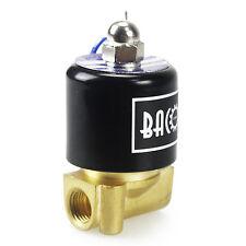 """BACOENG Magnetventil 1/4"""" 12V  Elektrische Magnetventil Messing"""