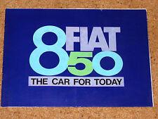 FIAT 850 brochure CIRCA 1964-66 à nice condition