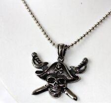 Biker acero inoxidable remolque Pirate Sword Skull 13ea15
