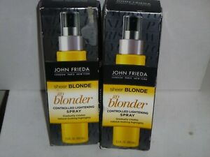 (2 pack) JOHN FRIEDA SHEER BLONDE Go Blonder Controlled Lightening Spray, 3.5oz