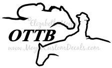 OTTB Western Pleasure Horse Rider Decal Sticker - You Choose Color! Off Track TB
