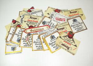 Konvolut Wein & Spirituosen Etiketten Kempe Oppach Wilthen 1930er ! (D