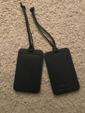 CD Christian Dior Pair Navy Leather? Lugguage Tags