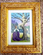 Framed original Cinderella into the woods illustration painting Disney Artist