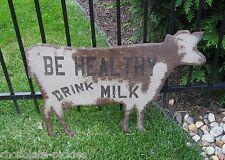Large Brown Dairy Milk COW Wall SIGN*Primitive/Farmhouse French Country Decor
