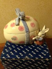 Fitz And Floyd Bunny Hollow Large Candy Jar With Original Box