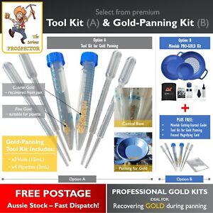 Gold Panning Tool Kit Options | pan gold flakes & nuggets | Minelab Pro-Gold