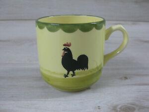 Zeller Keramik Hahn und Henne Kaffeebecher Henkelbecher 8,5cm hoch