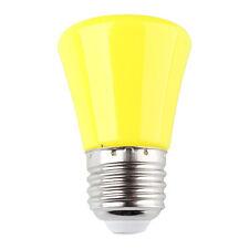 Yellow Mini 220V 1.5W E27 LED Light Ball Lamp Globe Golf Bulb