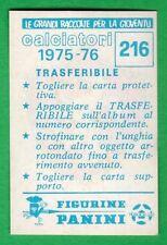TRASFERIBILE CALCIATORI PANINI 1975/76 - NUOVO/NEW N.216 STEMMA - PERUGIA