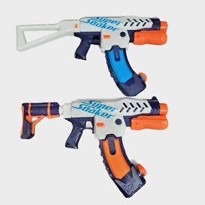 NERF Super Soak Switch Shot Water Gun W/ Shoulder Stock & 20 oz Clip Bundle