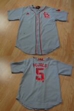 Youth St Louis Cardinals Albert Pujols M (10/12) Throwback Style Jersey (Light B