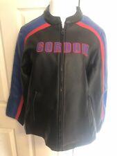 Jeff Gordon Nascar Racing Womens Faux Leather Jacket Black Winners Circle Medium
