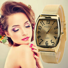 Rectangular Head Women Ladies Classic Quartz Watch Stainless Steel Wrist Watch