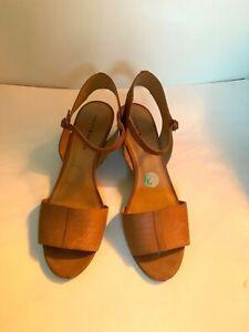 Women's Size 12M Sandal Lucky Brand Wedge Heels Beige