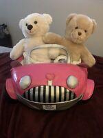 New BUILD A BEAR Pink Smallfrys  Convertible Car NWT