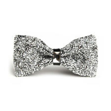Fashion Men's Tie Glitter Rhinestone Bowtie Sparkle Tuxedo Bow Tie Adjustable
