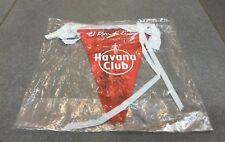 BANDEROLE ROUGE OFFICIELLE ALCOOL RHUM EL RON DE CUBA HAVANA CLUB TRES RARE