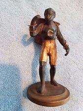 Rare vintage Blackamoor figurine statue PETITES CHOSES - man carrying basket