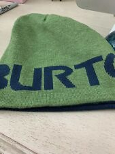 BURTON BEANIE GREEN AND 100% polyester