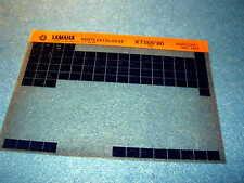Yamaha XT500 XT 500 1980 Gen Catalogue de Pièces Microfiche