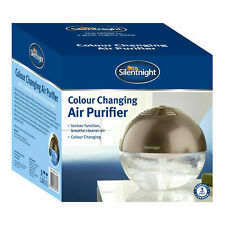 Silentnight LED Colour Changing Air Purifier and Humidifier with Ioniser, Silver