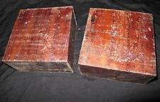 GRANADILLO TURNING BLANKS 6X6X3- 2PCS W/FREE SHIPPING-EXOTIC WOOD