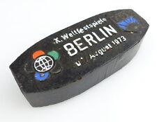 #e2854 Original altes DDR (Zier-) Kohlebrikett X. Weltfestspiele FDJ Berlin 1973