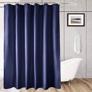 Navy Blue Shower Curtain Hotel Fabric Shower Curtain Liner Solid for Bathroom