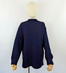 Vintage Le Tricoteur blue Guernsey thick fisherman jumper sweater pure wool M 12