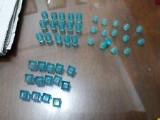 Non-Lego LOT of Bricks - Clear Translucent Blue Color 45 pieces - Check Below
